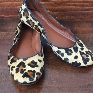 Lucky Brand Emmie Mohair Leopard Flats